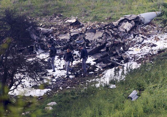 Zestrzelony izraelski F-16