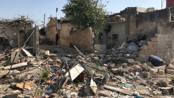 Konsekwencje ostrzałów artyleryjskich Afrinu w Syrii - Sputnik Polska
