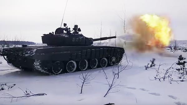 Ćwiczenia wojskowe na poligonie Pogonowo pod Woroneżem - Sputnik Polska