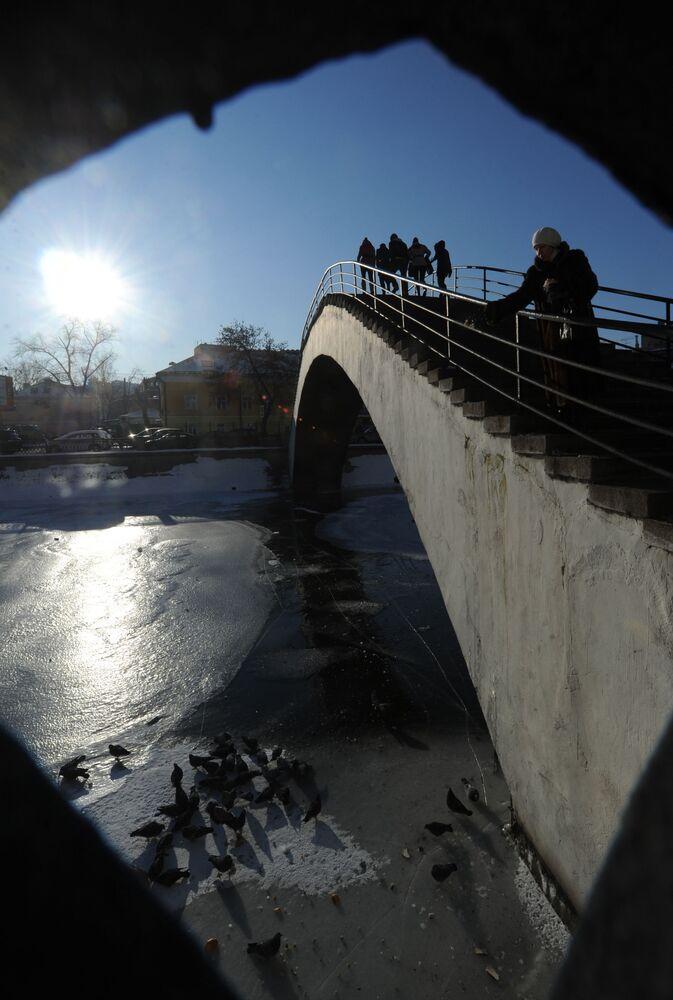 Most przez rzękę Moskwę