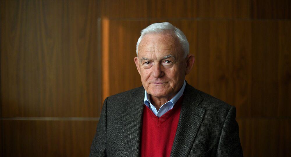 Były premier Polski Leszek Miller. Moskwa, 2017