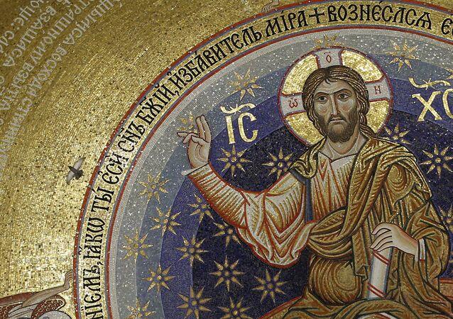 Wizerunek Jezusa na ikonie