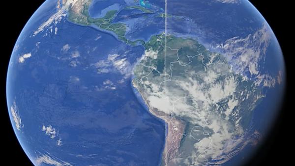 Dziwna linia na zdjęciu Ziemi, która opasa ponad 21 tysięcy kilometrów planety - Sputnik Polska