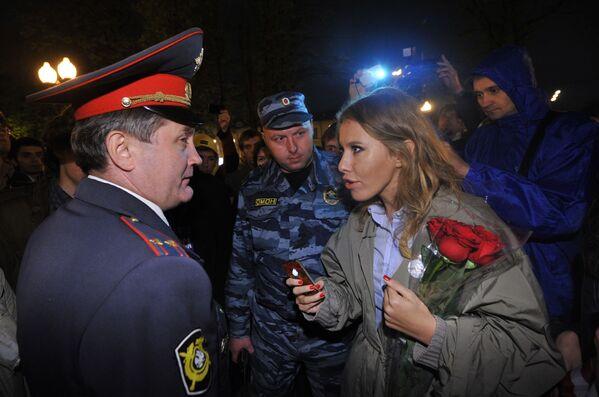 Ksenia Sobczak na demonstracji opozycji w Moskwie - Sputnik Polska