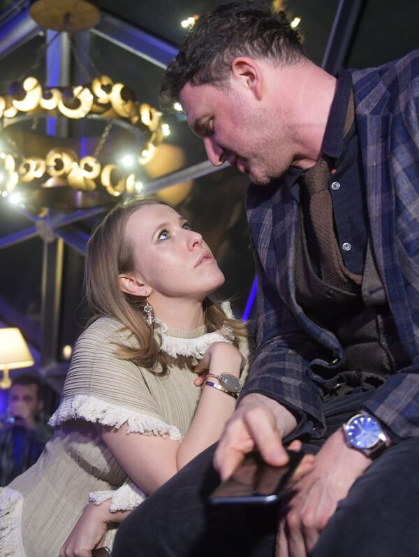 Ksenia Sobczak z mężem, aktorem Maksimem Witorganem - Sputnik Polska
