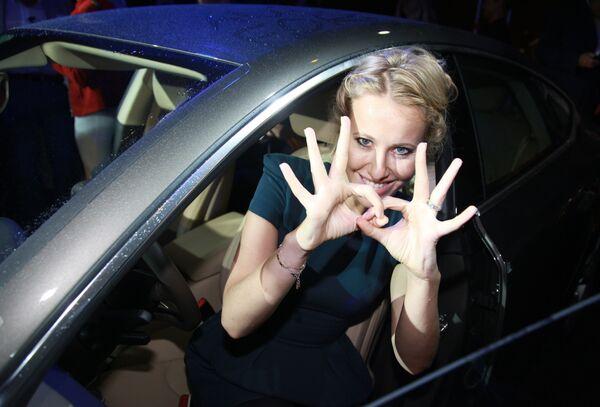 Ksenia Sobczak na prezentacji Audi A7 - Sputnik Polska