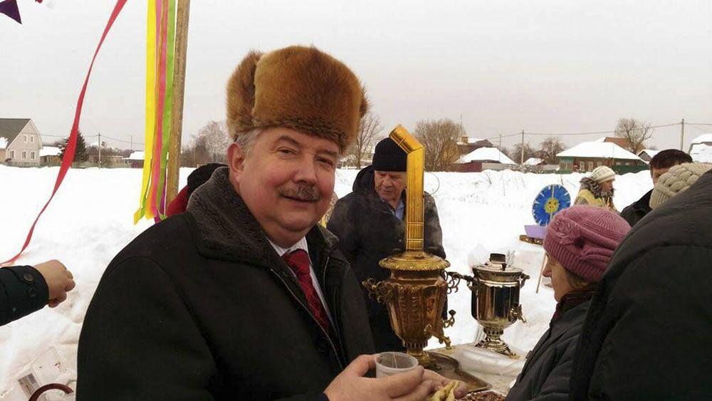 Kandydat na prezydenta Rosji Siergiej Baburin podczas spotknia z wyborcami w obwodzie tulskim