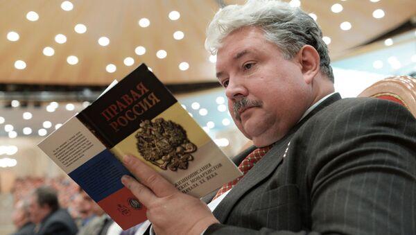 Polityk Siergiej Baburin podczas otwarcia XIX. Wszechświatowego Rosyjskiego Soboru Narodowego - Sputnik Polska
