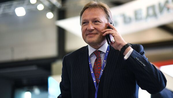 Borys Titow podczas forum Ekonomicznego w Petersburgu w 2017 roku - Sputnik Polska
