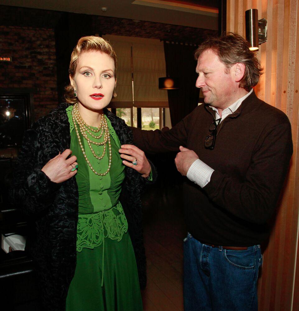 Dyrektor firmy Abrau-Durso Borys Titow i reżyser Renata Litwinowa