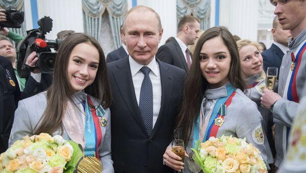 Prezydent Rosji Władimir Putin na XXIII Zimowych Igrzyskach Olimpijskich w Pjongczangu - Sputnik Polska