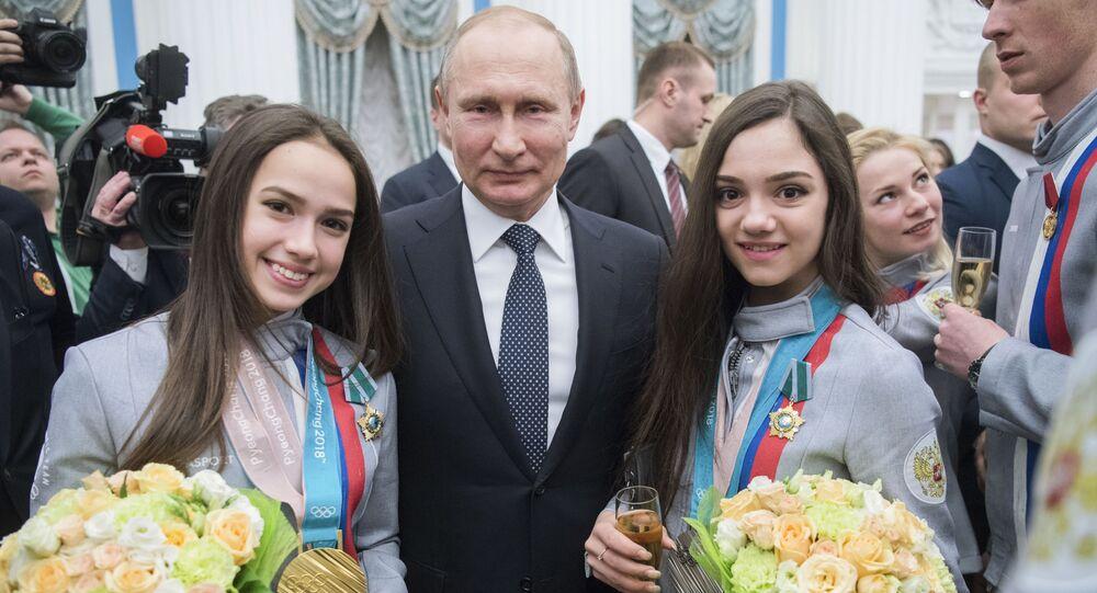 Prezydent Rosji Władimir Putin na XXIII Zimowych Igrzyskach Olimpijskich w Pjongczangu