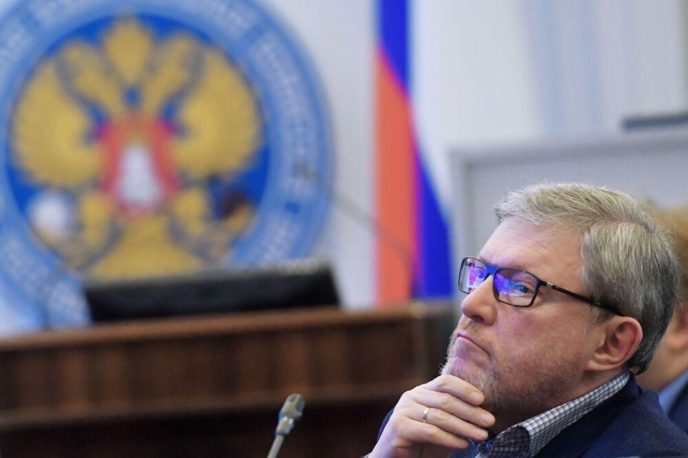 Kandydat na prezydenta Rosji z partii Jabłoko Grigorij Jawliński