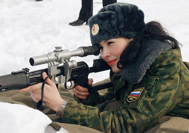 Uczestniczka finałowego etapu konkursu Piękność w pagonach, Rosja