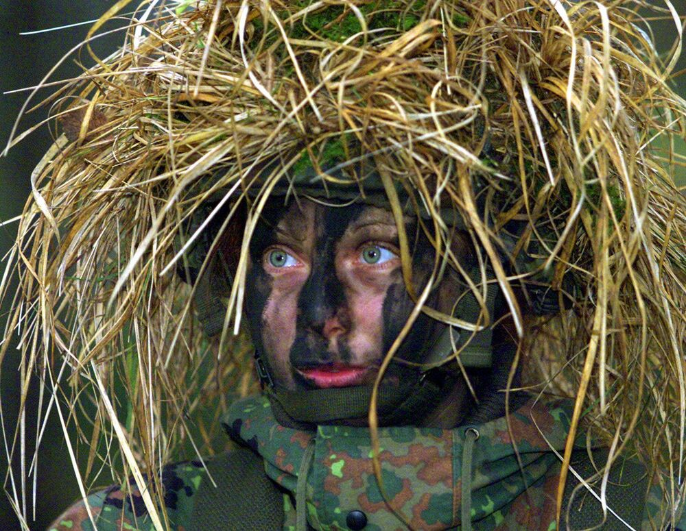 Żołnierka niemieckiej armii