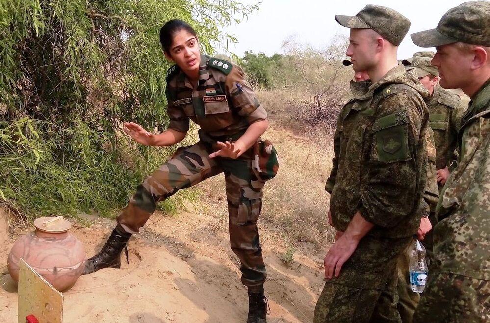 Kobieta-oficer indyjskiej armii