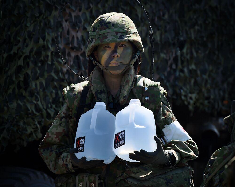 Żołnierka japońskiej armii