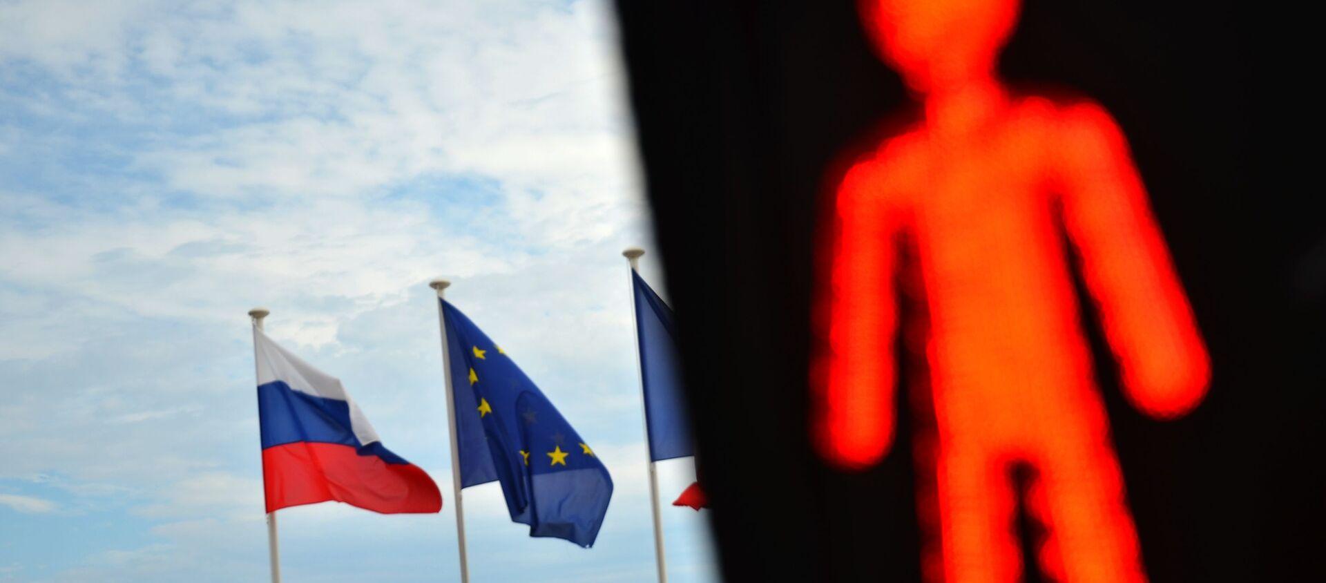 Flagi Rosji, UE i Francji - Sputnik Polska, 1920, 06.02.2021