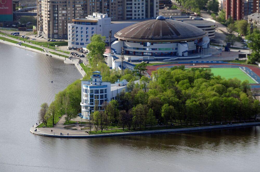 Widok na Pałac Sportu