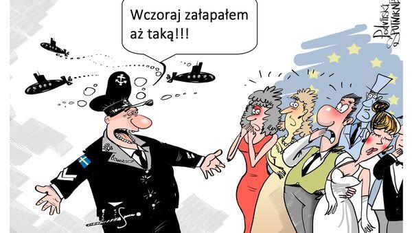 """Kolejny """"rosyjski okręt podwodny"""" w szwedzkich wodach - Sputnik Polska"""