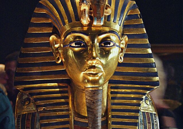 Maska Tutanchamona w Muzeum Egipskim w Kairze