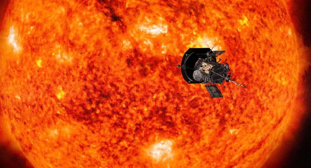 Aparat kosmiczny Parker Solar Probe zbliżający się do Słońca