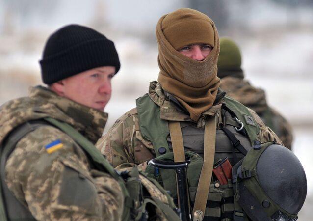 Wojskowi ukraińskich sił zbrojnych