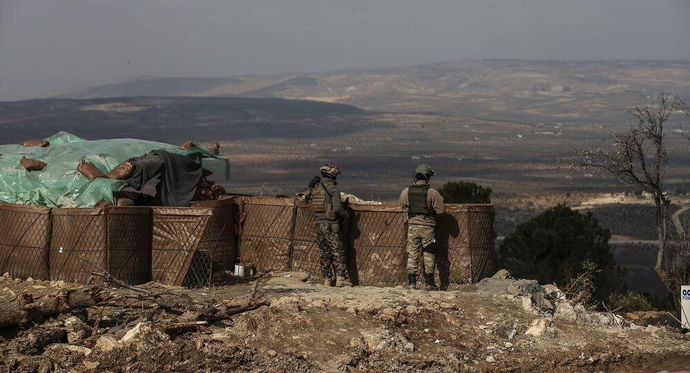 Tureccy żołnierze w rejonie Afrinu, Syria