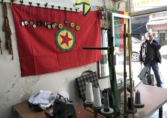 Symbole Kurdyjskich Sił Samoobrony w Afrinie