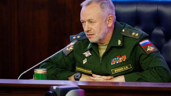 Wiceminister obrony Federacji Rosyjskiej Aleksander Fomin. Zdjęcie archiwalne - Sputnik Polska