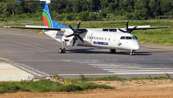 Samolot Bombandier Dash 8 Q400 linii lotniczych US-Bangla Airlines. Zdjęcie archiwalne - Sputnik Polska
