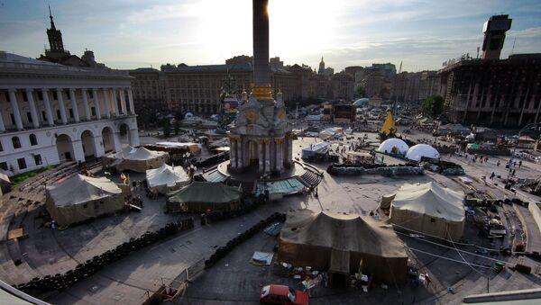 Plac Niezałeżnosti podczas Majdanu - Sputnik Polska