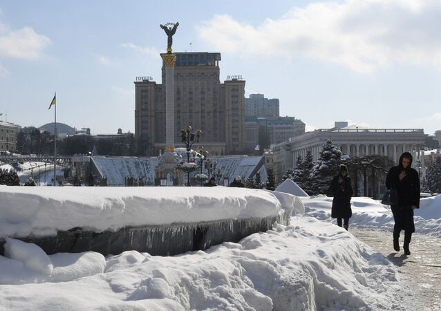Plac Niepodległości w Kijowie, Ukraina