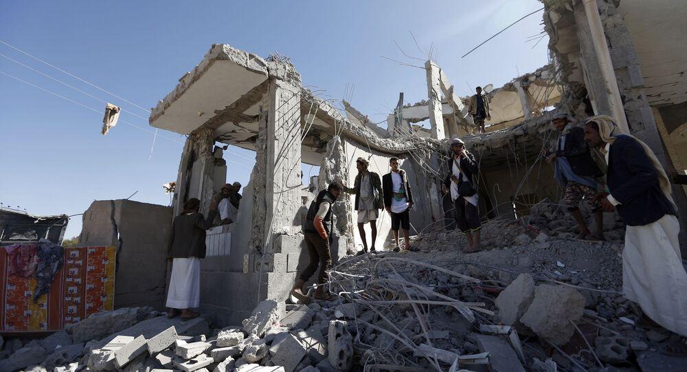 Skutki nalotu koalicji na stolicę Jemenu Sanę