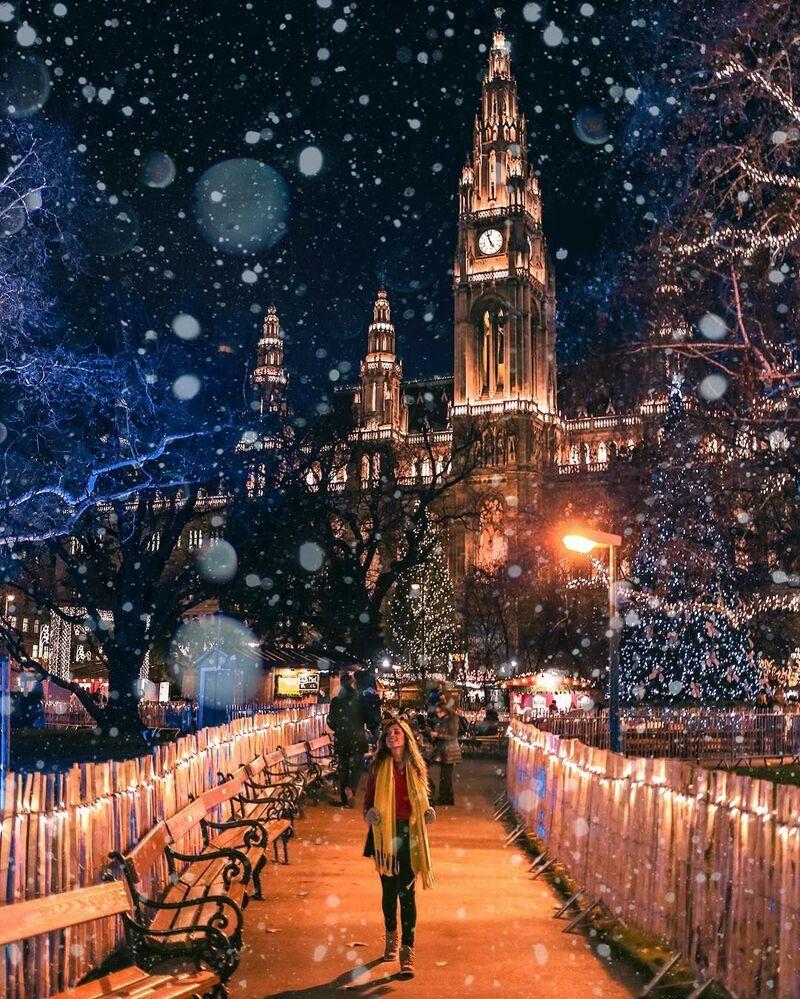 Wenecja podczas opadów śniegu - fotografia dla projektu Jak daleko od domu