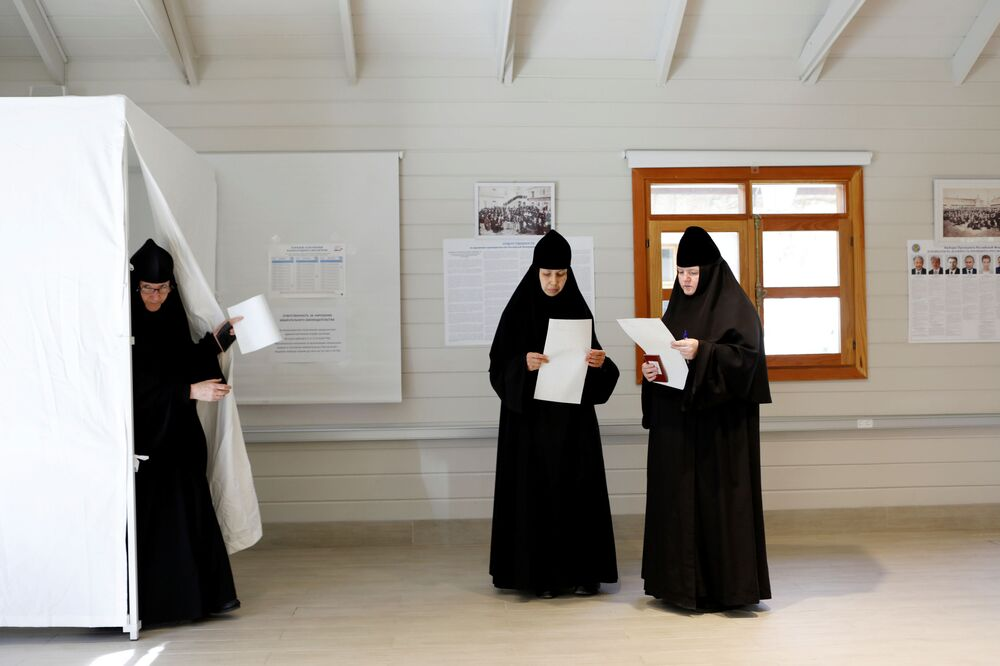 Siostry zakonne podczas wyborów prezydenckich w Rosji