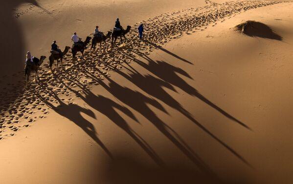 Uczestnicy wyścigów konnych po marokańskiej Saharze - Sputnik Polska