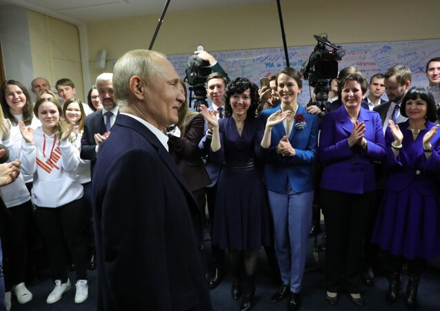 Sztab przedwyborczy kandydata na urząd prezydenta Rosji Władimira Putina