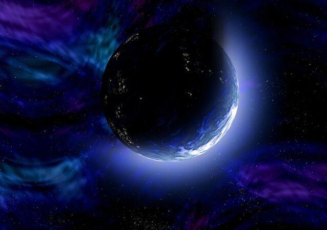 Widok na Ziemię z kosmosu