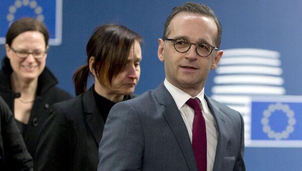 Minister spraw zagranicznych Niemiec Heiko Maas w Brukseli - Sputnik Polska