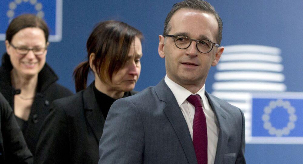 Minister spraw zagranicznych Niemiec Heiko Maas w Brukseli
