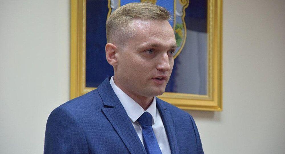 Ukraiński pilot wojskowy Władysław Wołoszyn