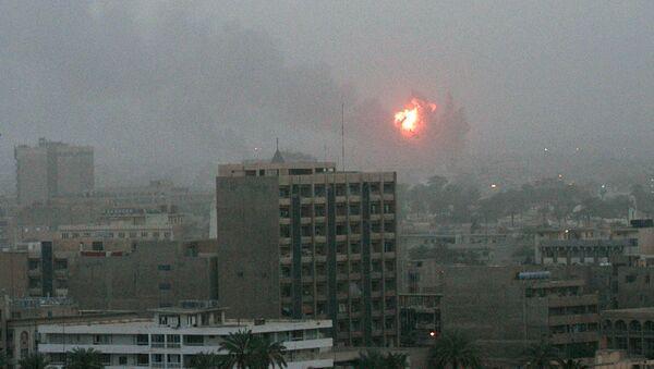 Interwencja USA w Iraku. Bombardowanie Bagdadu 20 marca 2003 r. - Sputnik Polska