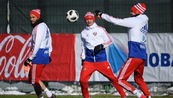 Piłkarze reprezentacji Rosji w piłce nożnej - Sputnik Polska