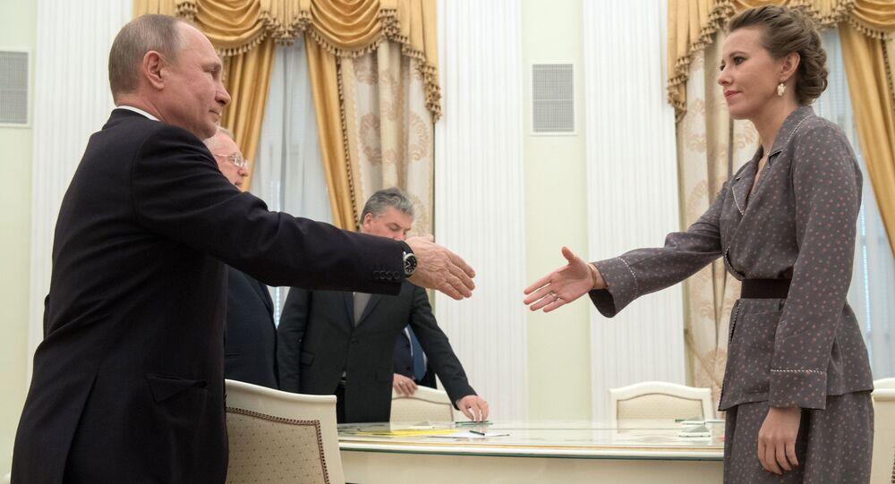 Władimir Putin i Ksenia Sobczak