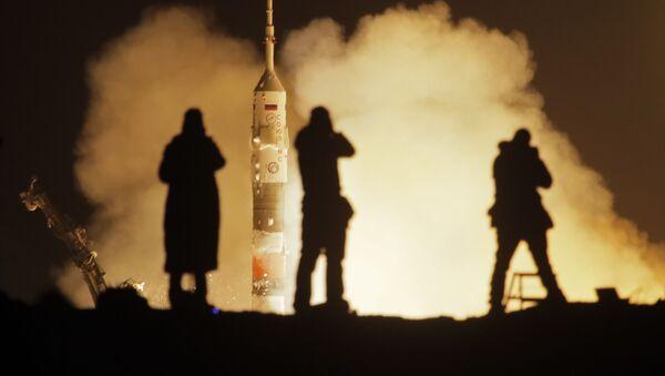 Start rakiety nośnej Sojuz-FG z kosmodromu Bajkonur - Sputnik Polska