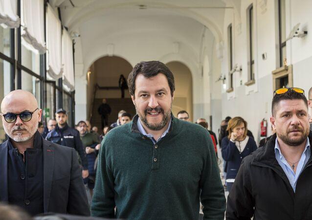 Lider włoskiej partii Liga Północy Matteo Salvini