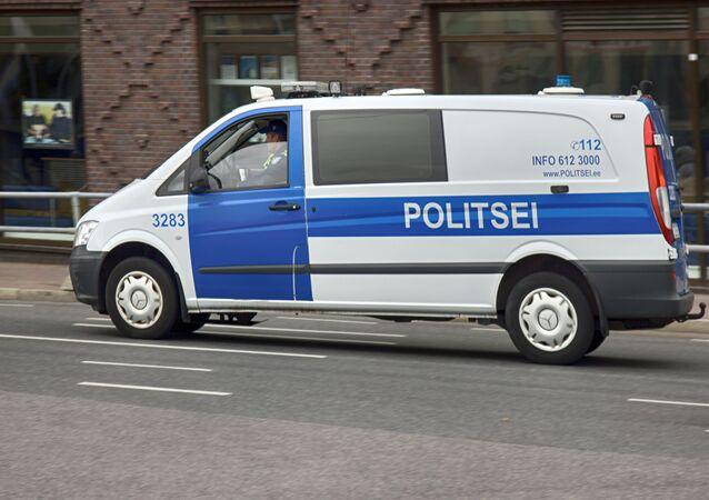 Samochód policyjny w Tallinnie