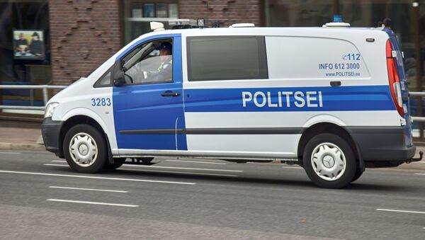 Samochód policyjny w Tallinnie - Sputnik Polska