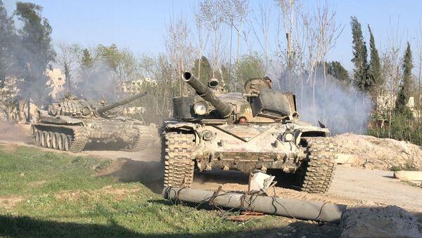 Sprzęt pancerny armii syryjskiej - Sputnik Polska